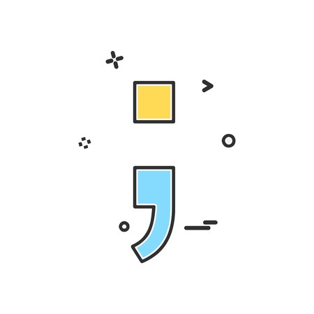 Semicolon icon design vector