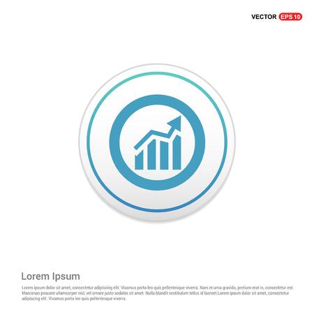 Business Presentation Icon - white circle button Ilustrace