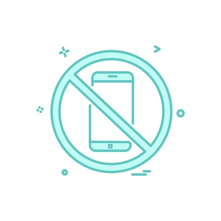 Phone not allowed icon design vector