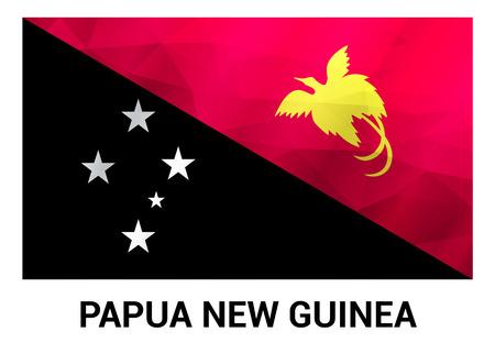 Papua New Guinea flags design vector Illustration