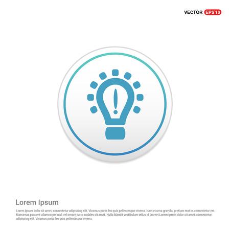 Light Bulb Icon - white circle button
