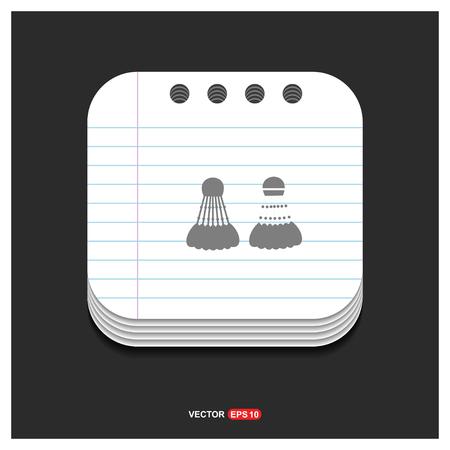Shuttlecock Icon - Free vector icon Illustration