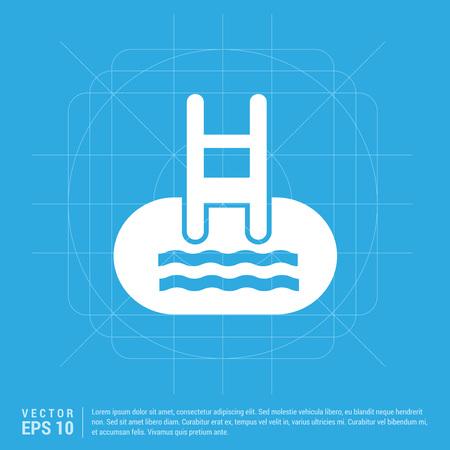 Indoors swimming pool icon