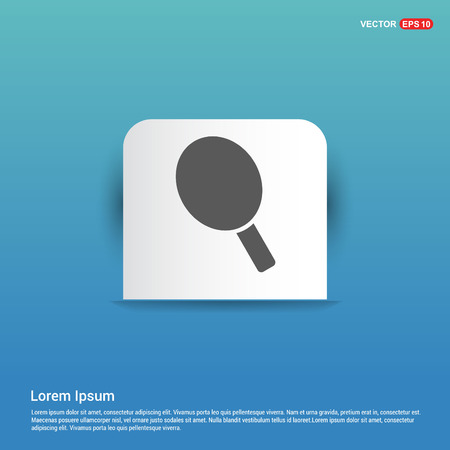 racket icon - Blue Sticker button Illustration