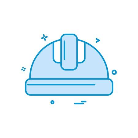 helmet labor icon vector design Illustration