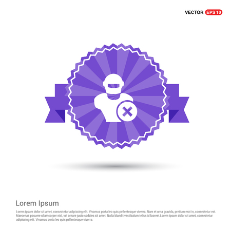 Hacker Icon - Purple Ribbon banner