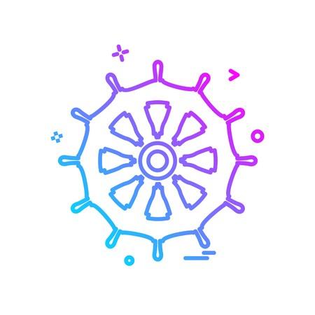 Sterring icon design vector