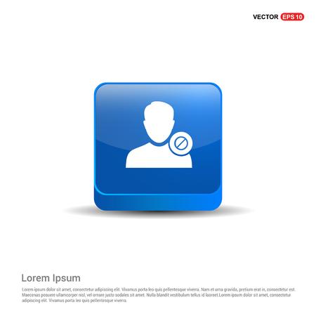 Bloquer l'icône de l'utilisateur. - Bouton bleu 3d.