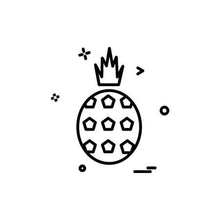 Pineapple icon design vector