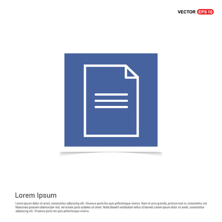 Note Icon - Blue photo Frame