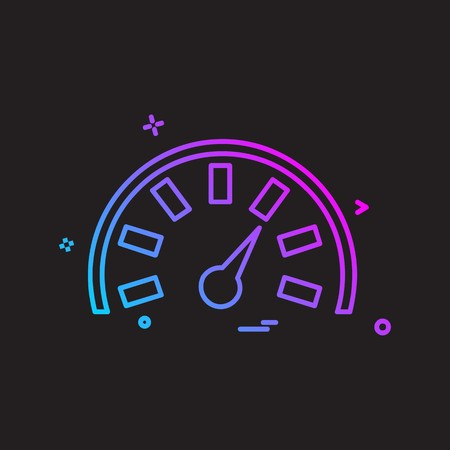 Meter icon design vector Çizim