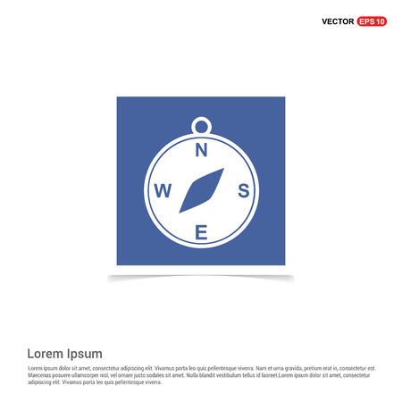 Compass icon - Blue photo Frame