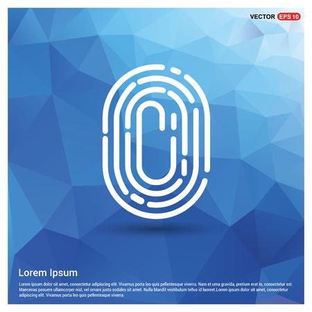 Fingerprint App icon Stock Vector - 110203277