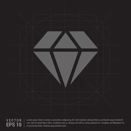 Diamond icon Reklamní fotografie - 118238961