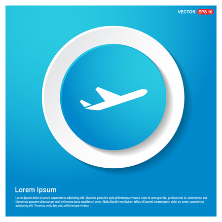 Airplane icon Vectores