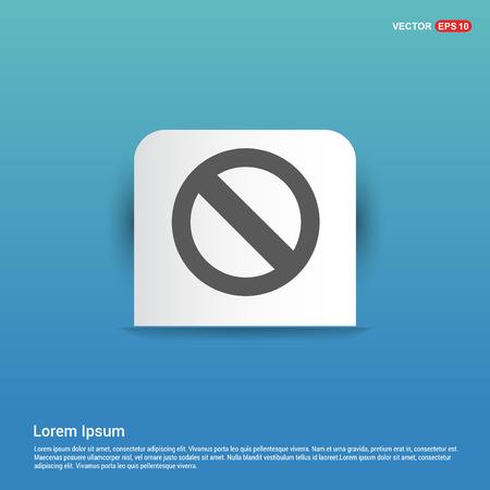 Access Denied Icon - Blue Sticker button