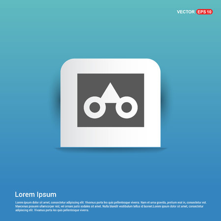 glasses frame icon - Blue Sticker button