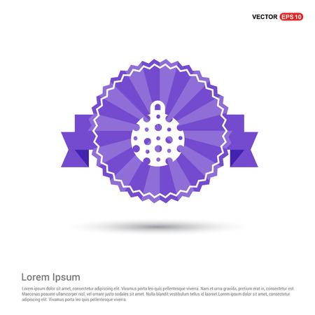 Christmas Ball Icon - Purple Ribbon banner