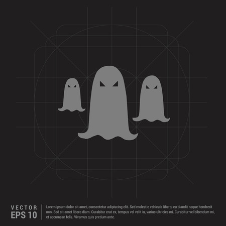 Ghost icon - Black Creative Background - Free vector icon