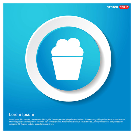 Popcorn exploding inside the packaging icon Abstract Blue Web Sticker Button - Free vector icon