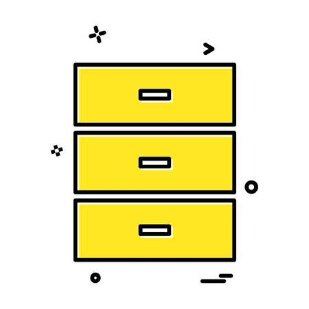 Drawer icon design vector 矢量图像
