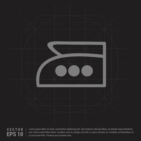 Laundry symbols icon - Black Creative Background - Free vector icon Ilustrace
