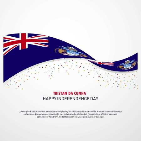 Tristan da Cunha Happy independence day Background