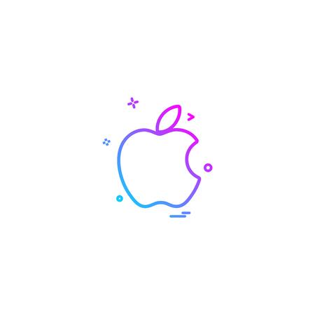Apple icon design vector