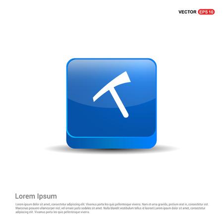 Hammer Icon - 3d Blue Button.