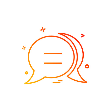 chat bubble sms icon vector design