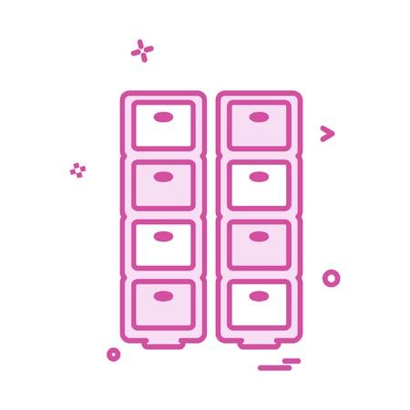 Vecteur de conception d'icône de tiroir