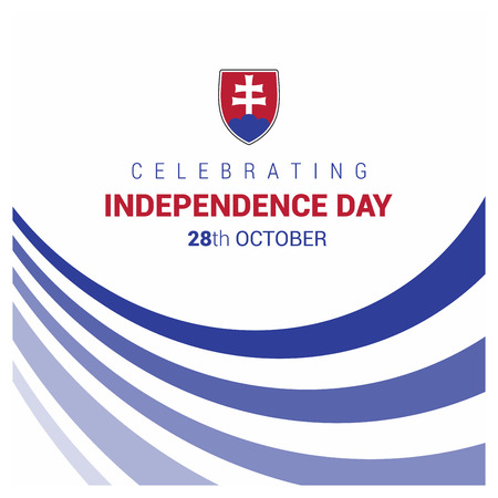 Slovakia Independence day design vector