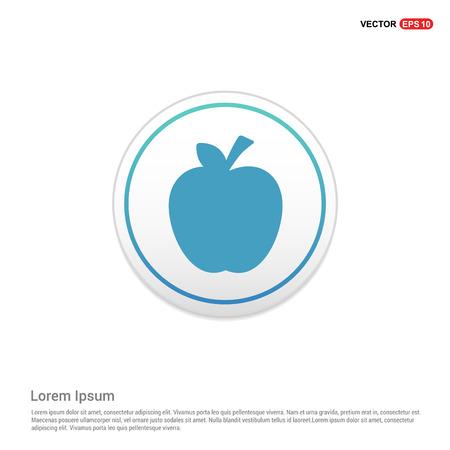 Apple fruit icon - white circle button Stock Vector - 118241297