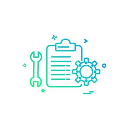 Mechanical Checklist icon design vector Illustration