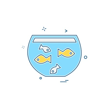 Fish bowl icon design vector