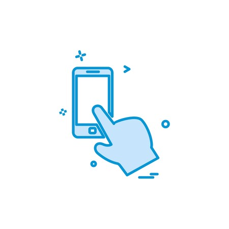 Artificial intelligence smart phone icon vector design  イラスト・ベクター素材