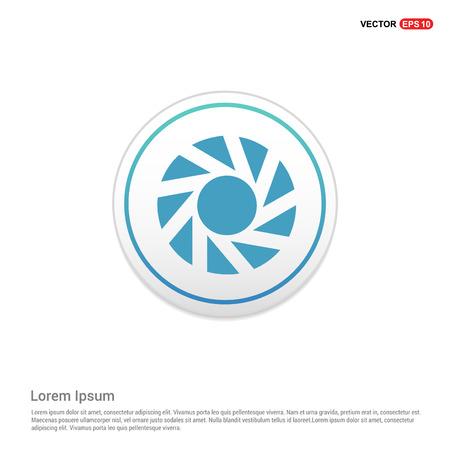 Camera shutter icon - white circle button