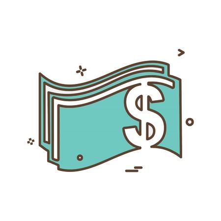 Money icon design vector