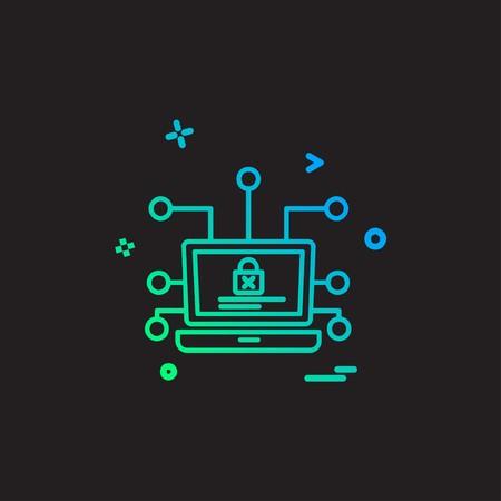 Cyber security icon design vector