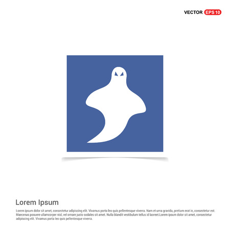 Ghost icon - Blue photo Frame 일러스트