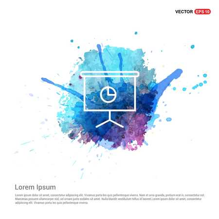 Business graph icon - Watercolor Background Illustration