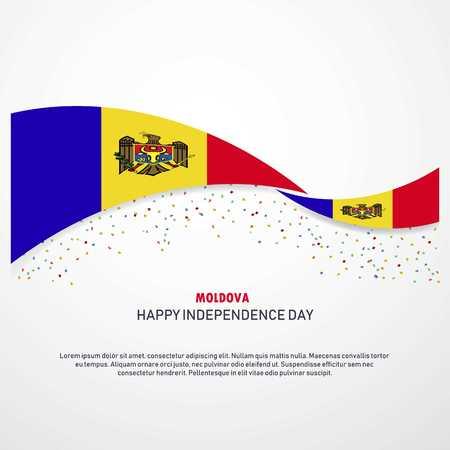 Moldova Happy independence day Background Vektorové ilustrace