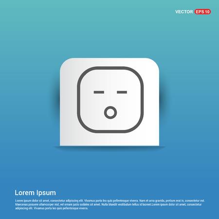 smiley icon, Face icon - Blue Sticker button 일러스트