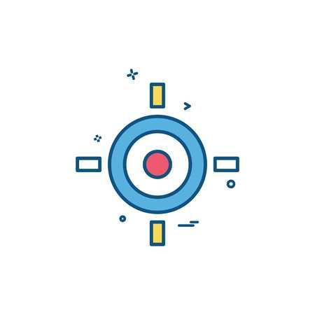 target aim goal icon vector design Иллюстрация