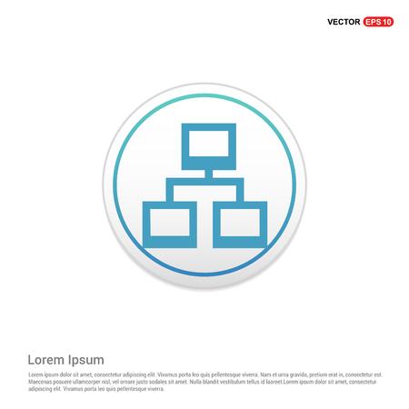 Network icon - white circle button