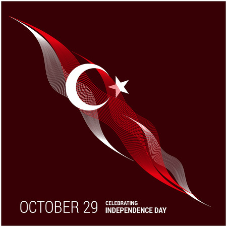 Turkey Independence day design card vector Vettoriali