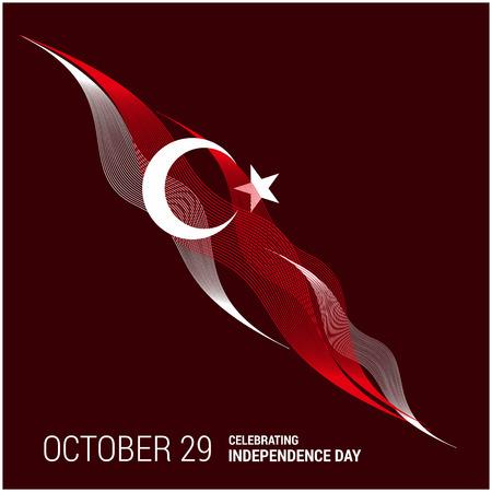 Turkije Onafhankelijkheidsdag ontwerp kaart vector Vector Illustratie
