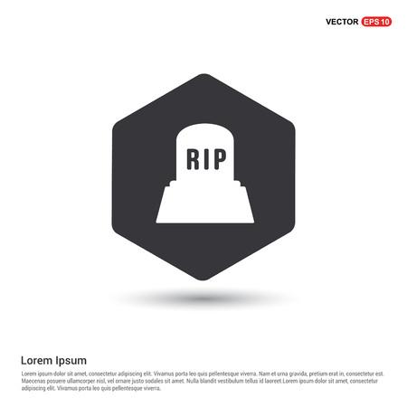 Halloween RIP Grave Stone icon Vettoriali