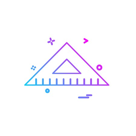 Geometry scale icon design vector Illustration