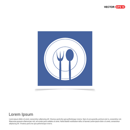 Fork and spoon icon - Blue photo Frame
